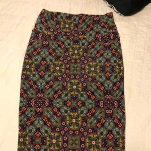 Lularoe Cassie xs pencil skirt, stained glass